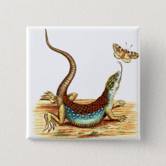 Vintage Lizard Button