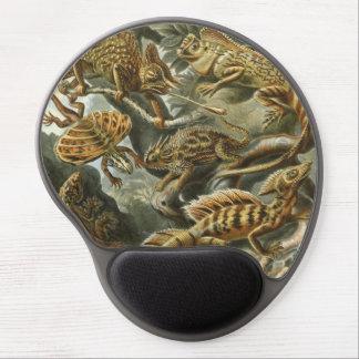 Vintage Lizards, Lacertilia by Ernst Haeckel Gel Mouse Pads