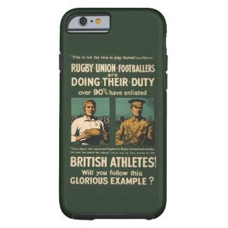 Vintage: Llamada de los jugadores del rugbi para Funda Para iPhone 6 Tough