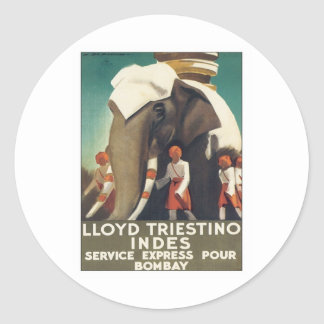 Vintage Lloyd Triestino India Classic Round Sticker
