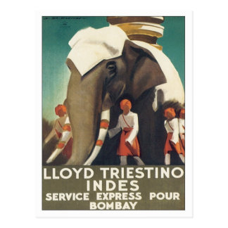 Vintage Lloyd Triestino India Postcards