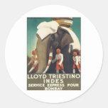 Vintage Lloyd Triestino India Sticker