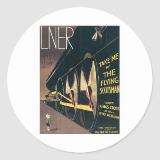 Vintage LNER Railway Round Stickers