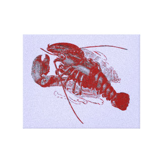 Vintage Lobster Canvas Print