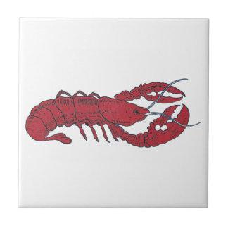 Vintage Lobster Ceramic Tile