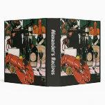 Vintage Lobster Champagne; Fancy Elegant Party 3 Ring Binder