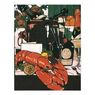Vintage Lobster Champagne; Fancy Elegant Party Custom Invite