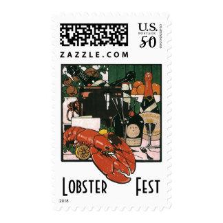 Vintage Lobster Champagne; Fancy Elegant Party Postage
