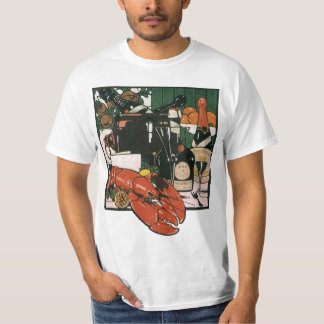 Vintage Lobster Champagne; Fancy Elegant Party T-Shirt