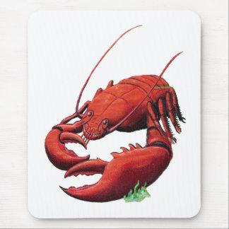 Vintage Lobster Cutout Mouse Pad