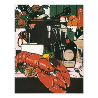 Vintage Lobster Fest Champagne; Elegant Party Personalized Announcement