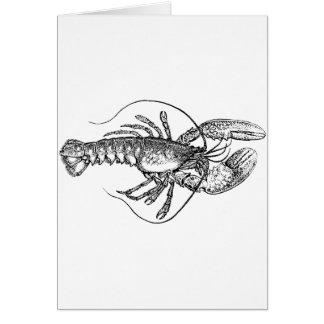 Vintage Lobster illustration Card
