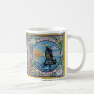 Vintage Lobster Label Mug