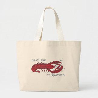 Vintage Lobster Large Tote Bag