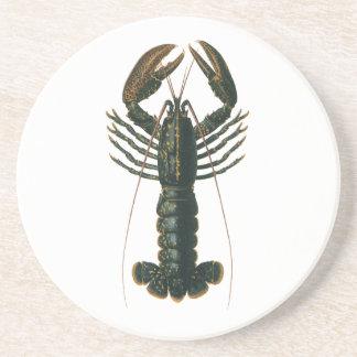 Vintage Lobster, Marine Ocean Life Crustacean Drink Coaster