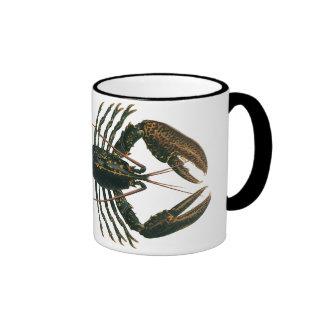 Vintage Lobster, Marine Ocean Life Crustacean Ringer Mug