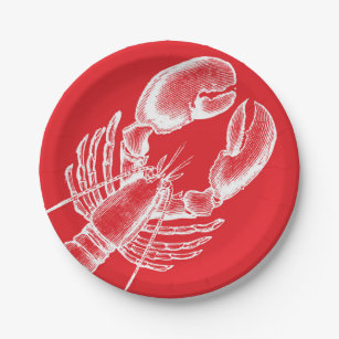 Vintage Lobster Paper Plate  sc 1 st  Zazzle & Lobster Plates | Zazzle
