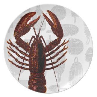 Vintage Lobster Plate
