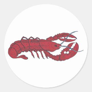 Vintage Lobster Round Stickers