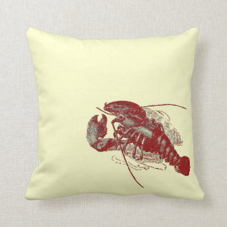 Vintage Lobster Throw Pillow