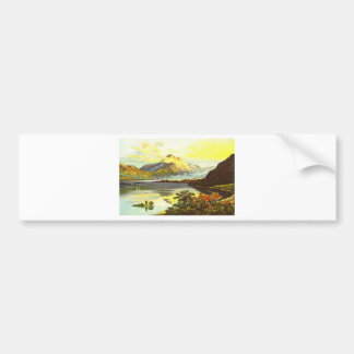 Vintage Loch Maree Painting Bumper Sticker