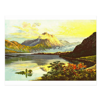 Vintage Loch Maree Painting Postcard