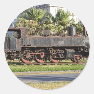 Vintage Locomotive Classic Round Sticker