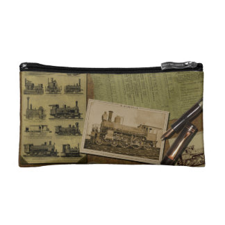 Vintage Locomotive Cosmetics Bag