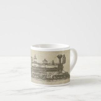 Vintage Locomotive Espresso Mug 6 Oz Ceramic Espresso Cup