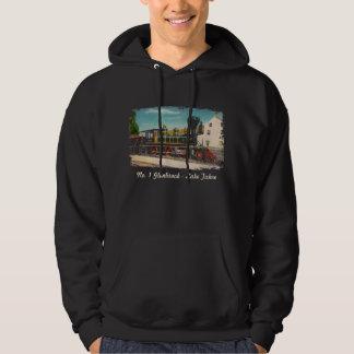Vintage Locomotive Hooded Sweatshirt