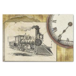 Vintage Locomotive Print Tissue Paper