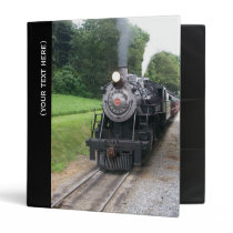 Vintage Locomotive Railroad Train Binder