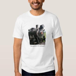 Vintage Locomotive Railroad Train T Shirt