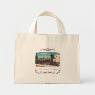 Vintage Locomotive Tote Bag