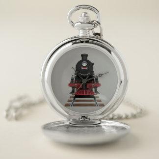 Vintage Locomotive Train Engine Conductors Pocket Watch