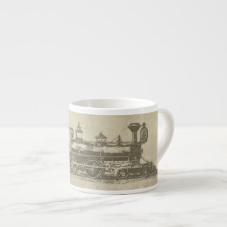 Vintage Locomotive Train Engine Espresso Mug