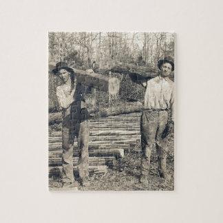 vintage loggers photo puzzle