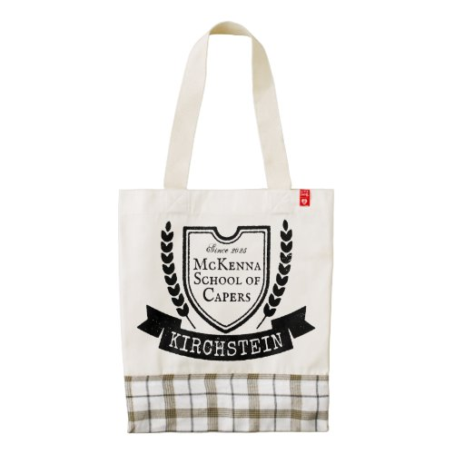 Vintage Logo Shield Laurel Ribbon Names Emblem Zazzle HEART Tote Bag