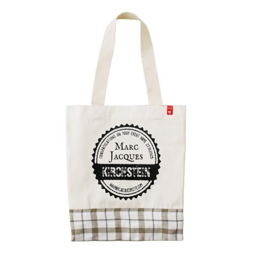 Vintage Logo Your Name Bottle Cap Circle Retro Zazzle HEART Tote Bag