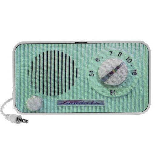 Vintage Londale Radio - Turquoise iPod Speakers