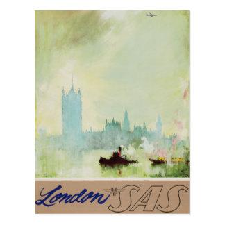 Vintage London Airway Air Travel Advertisement Postcard