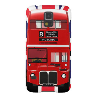 Vintage London Bus and Union Jack Galaxy S5 Cover