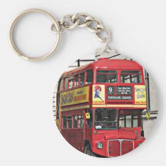 Vintage London Bus Key Chain
