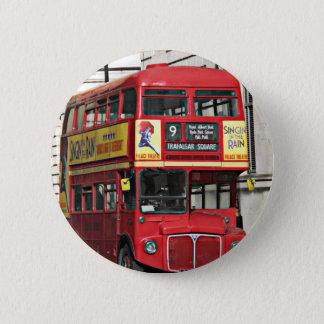 Vintage London Bus Pinback Button