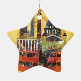vintage London Ceramic Ornament