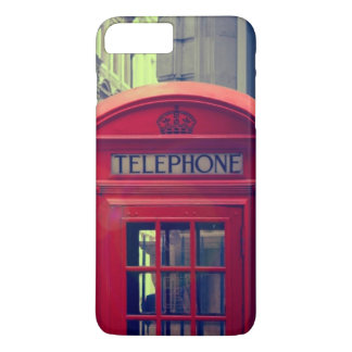 Vintage London City Red Public Telephone Booth iPhone 7 Plus Case