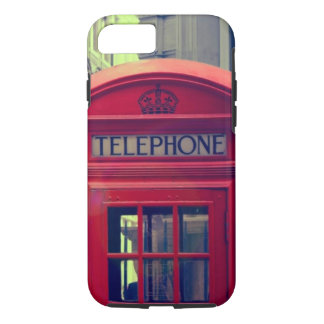 Vintage London City Red Public Telephone Booth iPhone 8/7 Case
