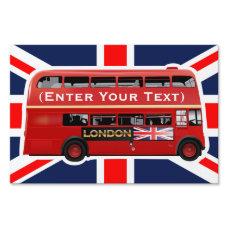 Vintage London Double Decker Bus Lawn Sign