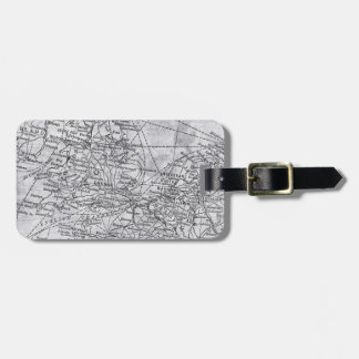 Vintage London England Map Region Travel Gift Bag Tag