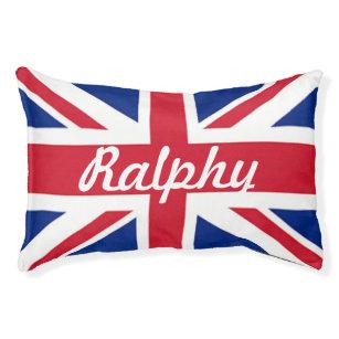 Vintage London Fashion British Flag Union Jack Pet Bed